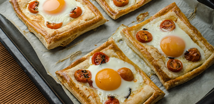 pastry eggs top
